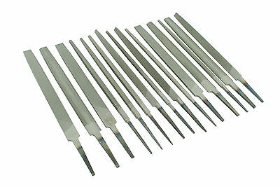 "Set of 15 Engineers Files 6"" 150mm Bastard 2nd Cut Smooth Various Shapes F9974"