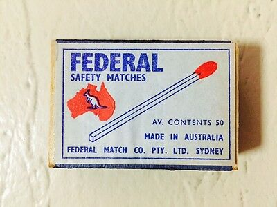 Vintage Federal Match Box Safety Matches