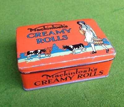 Vintage Tin Mackintosh's Creamy Rolls Confectionary Tin