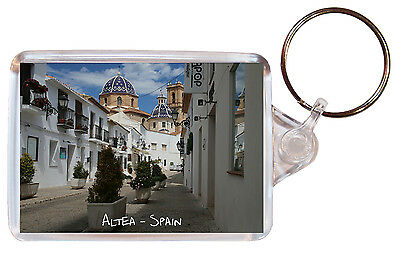 Altea - Costa Blanca - Spain - Double Sided Large Keyring Key Ring Chain Gift