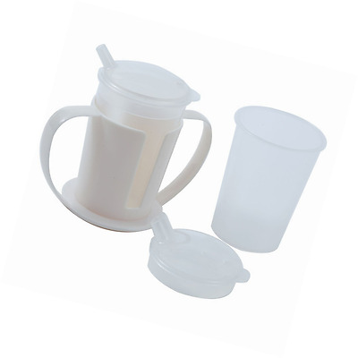 NRS Healthcare Beakers with Lids plus Two Handled Holder Set (Eligible for VAT r
