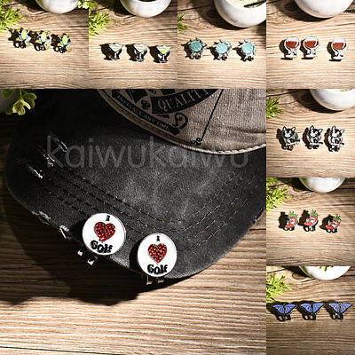 Personalized Golf Ball Markers Cute Animal Shape Hat Clips - 3 pcs / lot