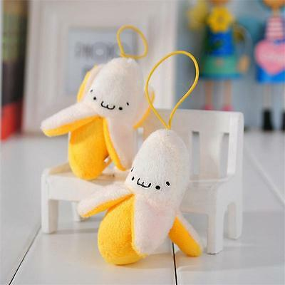 Banana Peel Phone Car Bag Pendant Decoration Fancy Plush Toy Doll For Boy Girl #