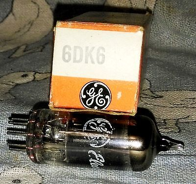 NOS General Electric 6DK6 (8136) vacuum tube radio TV valve, TESTED