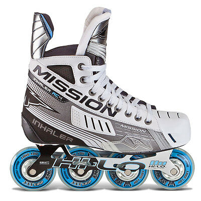 Mission Inhaler AC4 Inline Hockey Skates Size Senior Hokejam.co.uk