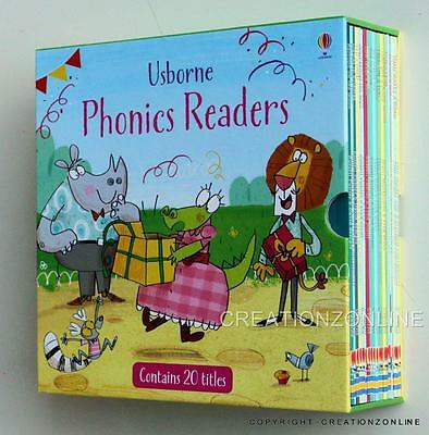 Usborne Phonics Readers 20 Book Boxed Gift Set Collection  Learn To Read New
