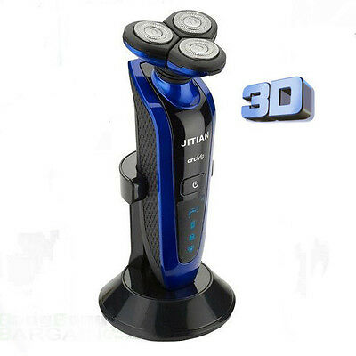 3D Triple Track Senso Touch Rotating Men's Rechargeable Electric Shaver