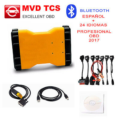 Equipo Diagnosis Profesional Mvd Tcs Pro+ 2017 / Bluetooth / Universal Full Cabl