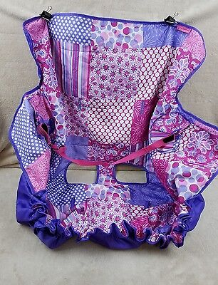 Infantino Compact 2 in 1 Shopping Cart Cover Car Seat Protection Pink Purple