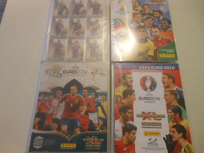 PANINI ADRENALYN- lot 4 classeurs (Ch.L 2012/EURO 2012/WORLD CUP 2014/ROAD 2016)