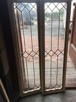 Sg 1427 2 Available Priced Each Antique Leaded Glass Geometric Transom Window