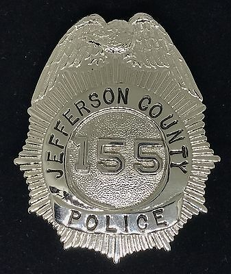 VINTAGE OBSOLETE JEFFERSON COUNTY POLICE 155 Collector's Police Badge