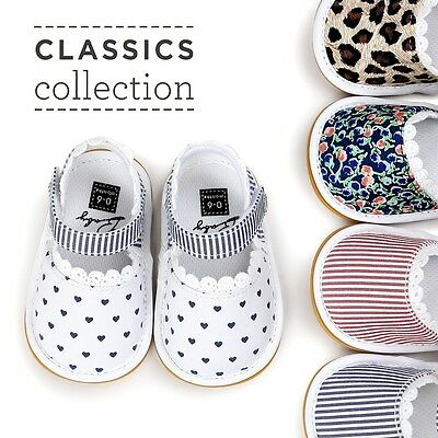 Infant Newborn Baby Girl Soft Sole Shoes Infant Toddler Print Sandals Crib Shoes