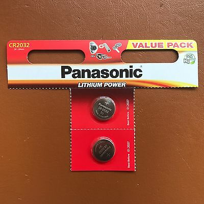 2 Panasonic CR2032 Lithium Coin Cell 2032 3V Battery Car Key Fobs Toys Remote