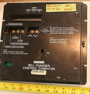 Rowe BC1200 BC1400 bill changer control computer 65082503 - double dump $1 - $20