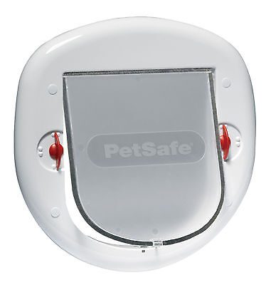 PetSafe Staywell Big Cat/Small Dog Pet Door (White) - 4 Way Locking Flap 280EF