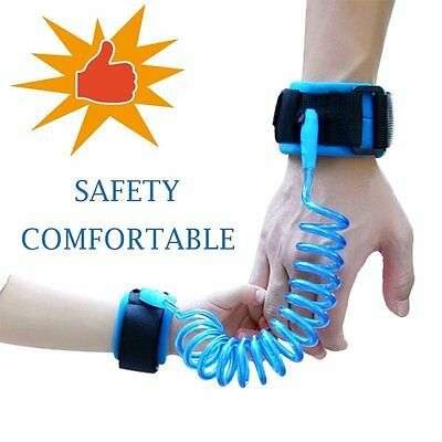 Anti Lost Wrist Cuff Link Harness Strap Belt Leash 8.2 ft Kid Toddler Safety NEW
