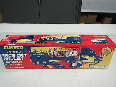SUNOCO 2004 RACE CAR HAULER-includes Race Car and Pit Wagon