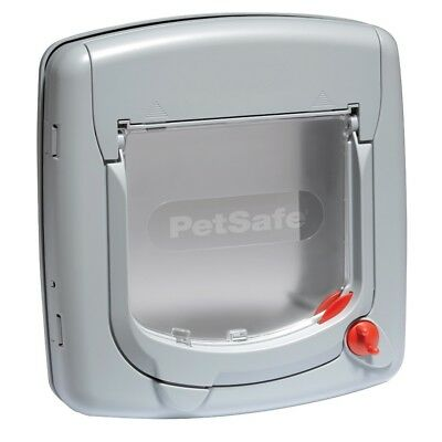 Petsafe Staywell 340Ef Grey Cat Flap With 4 Way Locking Great Value Pet Door
