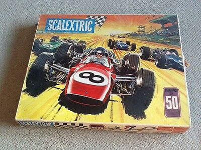 vintage scalextric Set - Grand Prix 50 Retro Toy With Two Cars Boxed