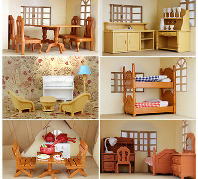 Kitchen Living Room Bedroom Miniature Sofa Furniture For Sylvanian Families Doll