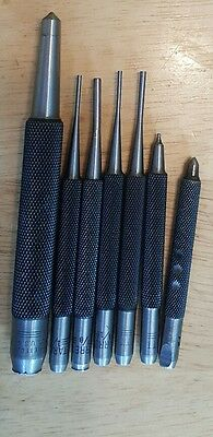 7pc Starrett Drive Pin And  Punch Set - Various Sizes See Photos