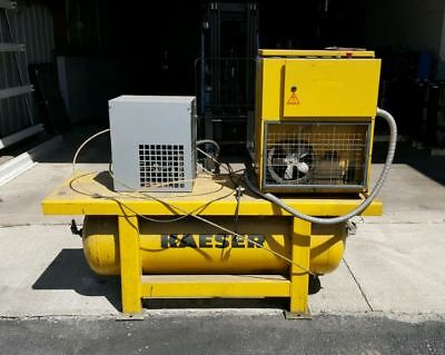 Kaeser Sm 11 Air Compressor Rotary Screw With Dryer 10 Hp