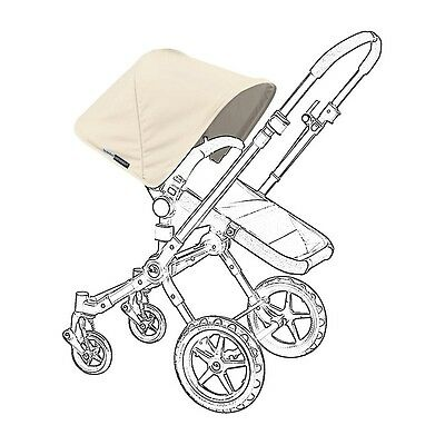 New! Bugaboo Frog/cam/cam3 Stroller Sun Extendable Canopy  Off- White