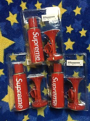 Supreme 15 F/w Box Logo Air Horn Red Sports Runner Accessories Cdg Bell Tnf Bell