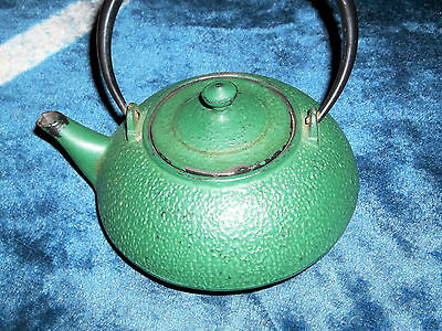 Vintage Asian cast iron Japanese Signed Teapot