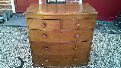 Georgian  2 over 3   Bow Front Chest of Drawers C1810 ? pine and hardwood fronts