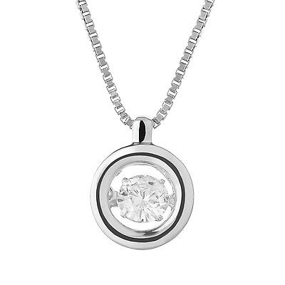 Charles & Colvard Round Brilliant Cut Forever Classic Moissanite Motion Necklace
