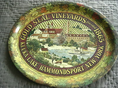 Vintage Serving Tray-Gold Seal Vinyards- 1865 -Hammondsport,new York