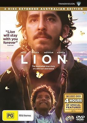 Lion Dvd, New & Sealed, Region 4, 2017 Release, Free Post