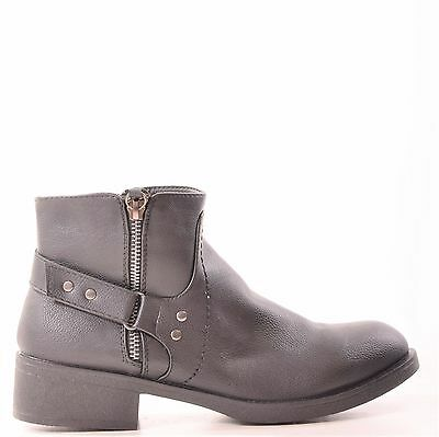 Ladies Womens Ankle Boots Chelsea Casual Flat Zip Fashion Style Shoes Size 3-8