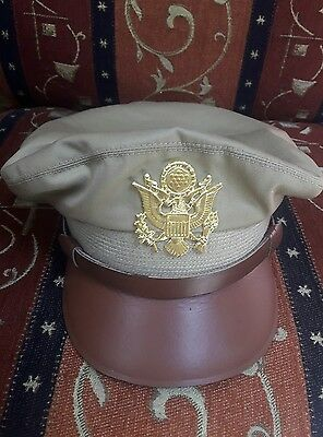 WWll US Army Officer Crusher Hat, US Army air corps Cap all sizes available