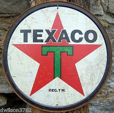 1936 Texaco Vtg Reproduction Metal Advertising Sign Garage Shop Gas Station USA