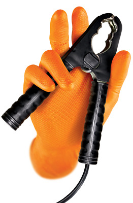 Grippaz Draco orange heavy duty nitrile fish-scale disposable size S-XXL pack 50