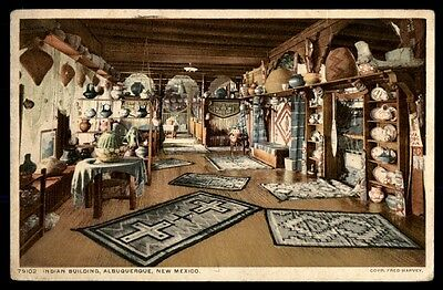 Fred Harvey and Indian building Albuquerque, NM 79102 postcard