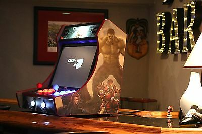 Diy kit - Bartop-Arcade-Cabinet-with-T-Molding-Cuts-Included- mdf