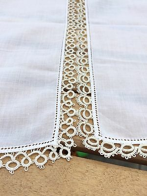 Vintage - Two Pretty Ladies Crochet Lace Handkerchiefs