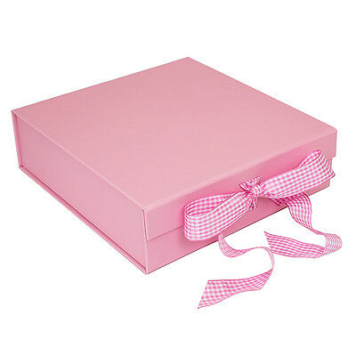 Pink Presentation Gift Box - Suitable for 8 Inch Plates-Birthday NEW Baby