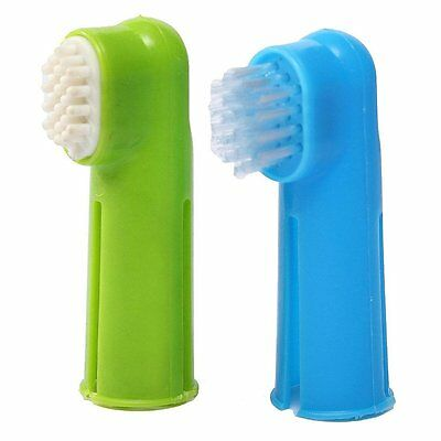 Oral Toothbrush Set+ Massage Finger Brush Grooming Toothpaste for Dog Puppy Q6P6