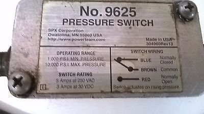 spx 9625 pressure switch 1000-10000 psi range