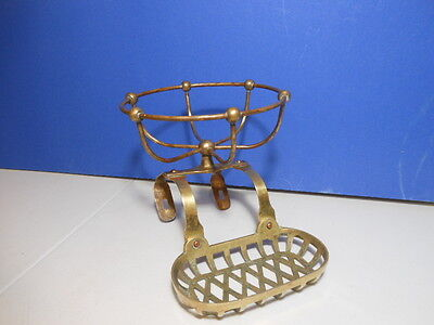 Victorian Antique Brass Soap and Sponge Holder #-824