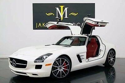 2013 Mercedes-Benz SLS AMG GT GULLWING 2013 SLS GT GULLWING, ONLY 6900 MILES! DESIGNO MYSTIC WHITE ON RED! PRISTINE!