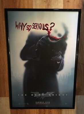 """THE DARK KNIGHT Advance Style B """"WHY SO SERIOUS?"""" Original Movie Poster 27X40 DS"""