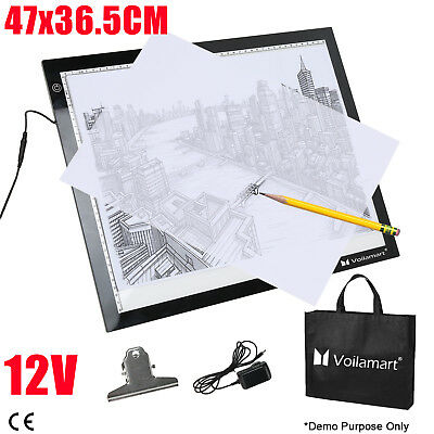 A3 LED Tracing Board Drawing Light Boxes Art Craft Paint Pad Tattoo Ultra Slim