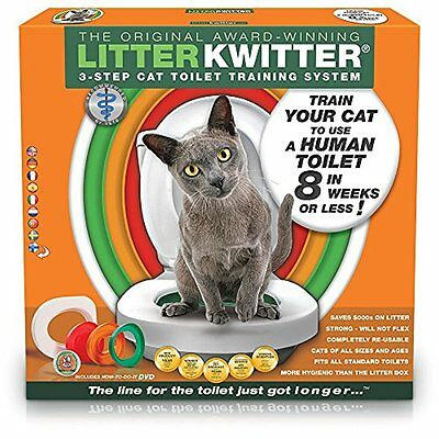 Litter Kwitter LK1 Training System Teach Your Cat to Use the Toilet DVD Included