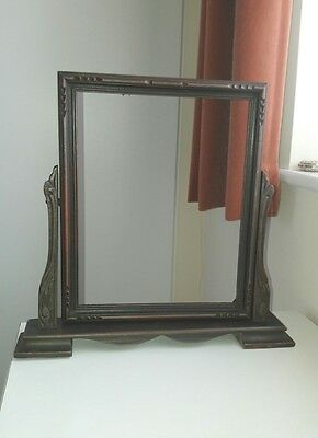 Antique Art Nouveau Wooden Tilting Frame For Mirror or Photo/Picture